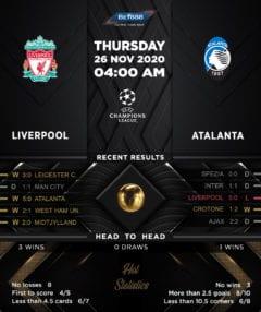 Liverpool vs Atalanta 26/11/20