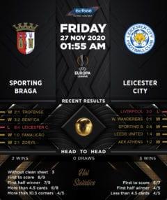 Sporting Braga vs  Leicester City 27/11/20