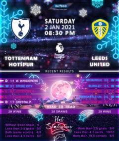 Tottenham Hotspur  vs  Leeds United  02/01/21