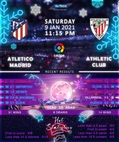 Atletico Madrid vs Athletic Bilbao 09/01/21