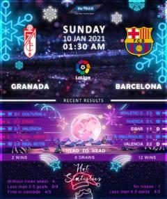 Granada vs Barcelona 10/01/21