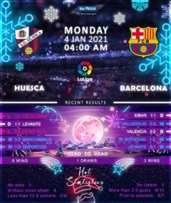 Huesca  vs  Barcelona 04/01/21