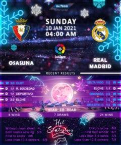 Osasuna vs Real Madrid 10/01/21