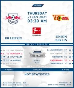 RB Leipzig  vs   Union Berlin  21/01/21